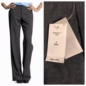 "GAP Perfect Trouser NEW 33.25"" Inseam Size 0"